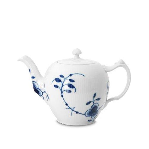 Royal Copenhagen Blue Fluted Mega Tea Pot 1qt Fluted Teapot