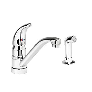 Elkay LKE4161 Kitchen Faucet, Chrome - Touch On Kitchen Sink ...