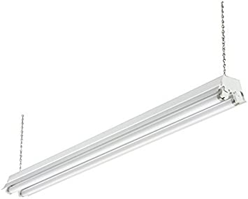 LITHONIA LIGHTING 1233 RE Fluorescent Shop Light,4ft,2 32W,T8