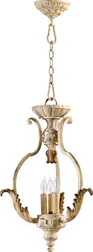 - Quorum 6837-3-70 Florence Pendant, 3-Light, 180 Total Watts, Persian White