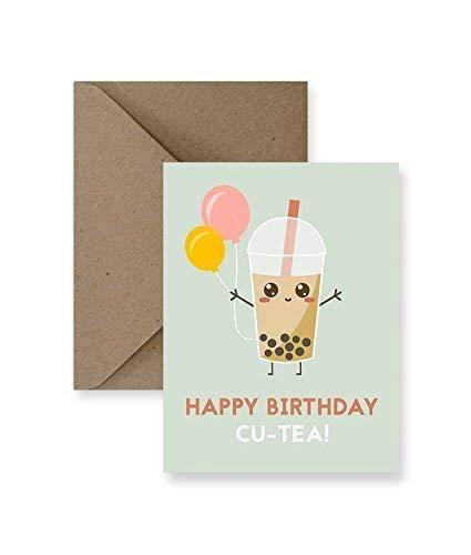 Happy Birthday Cu-Tea Card