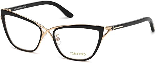 Tom Ford Women's TF5272 Eyeglasses, Black/Gold (Tom Ford Frames Männer)