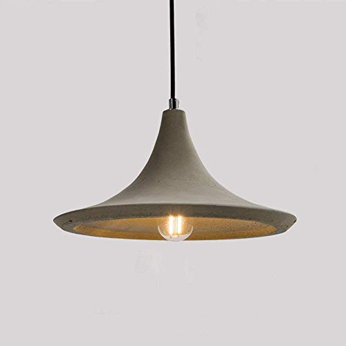GUI Guo Home Vintage Chandeliers Creative Home Lighting Personality Restaurant Bedroom Living Room Lamp Cement Horn Retro Concrete Industrial 290 150Mm