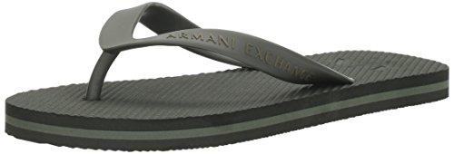 A|X Armani Exchange Mens Armani Exchange Solid Flip Flop Dark Moss/Thyme