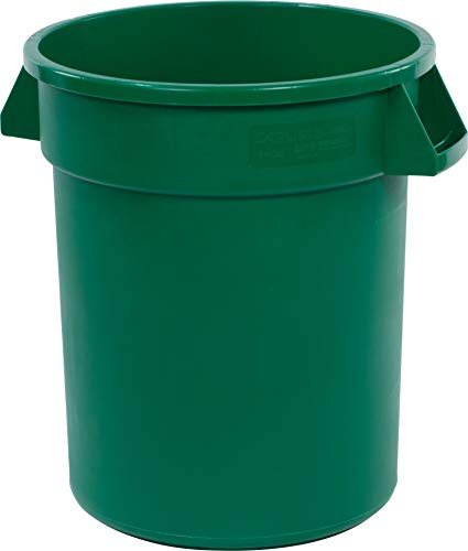 Carlisle 34102009 Bronco Round Waste Container Only, 20 Gallon, Green ()