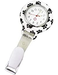 Clip-On Watch, Nurse Lapel Pin Watch Unisex Hanging Medical Pocket Watch Pin-on Lapel Watch Nurse Quartz Watch