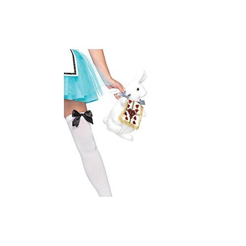 [Wonderland Rabbit Purse Costume Accessory] (Child White Rabbit Costume Alice In Wonderland)