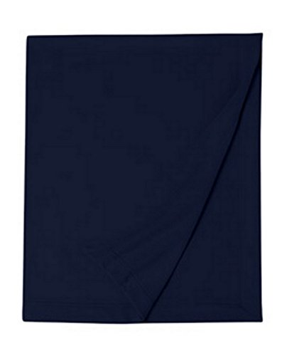 G12900 Gildan Dryblend Fleece Stadium Blanket, Navy, One Size