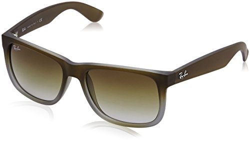 Ray-Ban RB4165 Square Non-Polarized Sunglasses,Brown On Grey, - Prescription Ray Bans Non