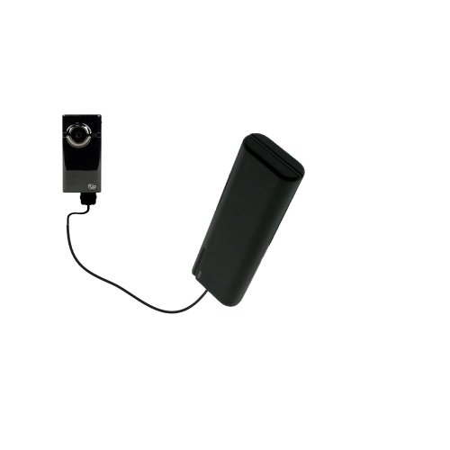 Gomadic Portable AA Battery Pack designed for the Pure Digital Flip Video MinoHD - Powered by 4 X AA Batteries to provide Emergency charge. Built using TipExchange Technology by Gomadic