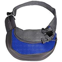 Pet-Carrierspet Carrier Bag Bag Cat Puppy Outdoor Bags Small Animal Dog Carrier Sling Front Mesh Travel Shoulder Bag Backpack,Blue,L