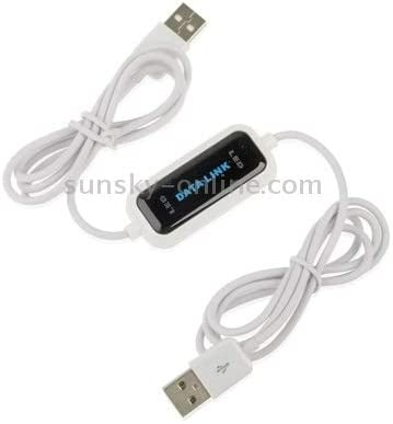 High Speed USB 2.0 Data Link Cable Length : 165cm Plug and Play PC to PC Data Share