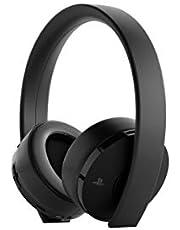 PlayStation Casque-micro sans fil PS4, Audio 3D, Édition Gold, Noir