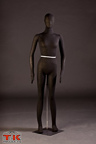 Halloween Raider Tusken Costume (Female Mannequin, Flexible Posable Bendable Full-size Soft -Black, by TK Products, Great for)