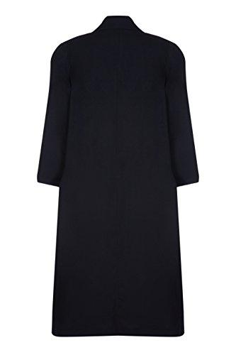 impermeabile De 50 lungo donna Cappotto Taglia da Creme Nero primavera La 1qqwpUIa