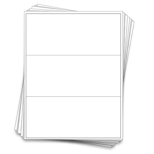 30 Professional Waterproof 16 oz Bottle Labels, 8 x 3.5 inches, White Vinyl