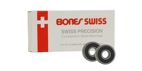 Powell Swiss (Bones Bearings Swiss Skate Bearings (8mm, 16-Pack))