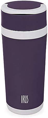 IRIS Botella termica Vidrio Lila 450ml