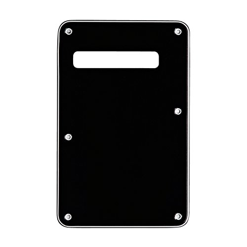 Musiclily 3Ply Strat Tremolo Cavity Cover Backplate for Fender Stratocaster Modern Style Electric Guitar,Black