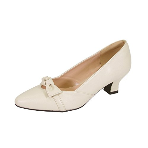 Peerage FIC Belle Women's Extra Wide Width Dress Pump Beige 9 Wide Dress Pumps