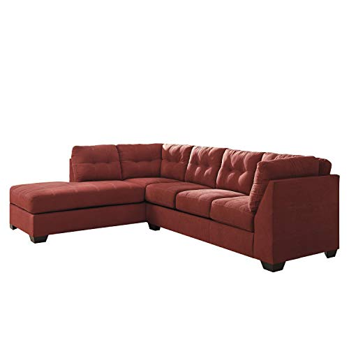 Flash Furniture Benchcraft Maier Sectional with Left Side Facing Chaise in Sienna Microfiber