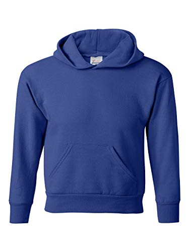 Hanes Youth EcoSmart Pullover Hood, Deep Royal, Large by Hanes (Image #4)