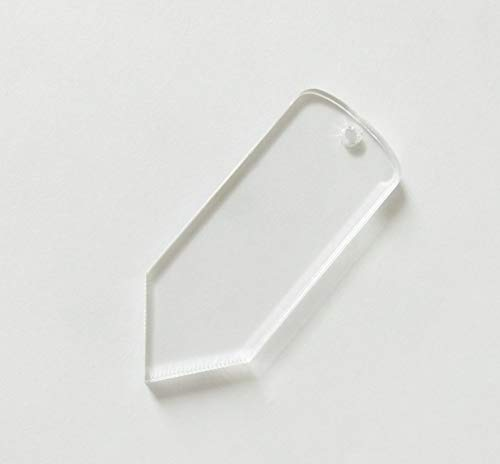 15PCS Clear Blank Acrylic Pencil Keychains Party Gifts (3.0)