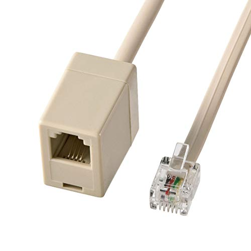 [해외]산와 서플라이 전화 연장 케이블 10m TEL-EX8-10K2 / Sunwa Supply Telephone Extension Cable 10m TEL-EX8-10K2