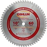 Oshlun SBNF-100060 10-Inch 60 Tooth TCG Saw Blade with 5/8-Inch Arbor for Aluminum and Non Ferrous Metals Size: 60 Tooth, Model: SBNF-100060, Tools & Outdoor Store