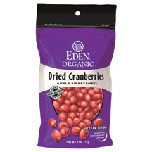 Eden Foods Organic Dried Cranberry, 4 Ounce - 15 per case. by Eden (Image #1)