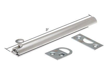 Slide Bolt, 3'' Long, Aluminum by C.R. Laurence (Image #1)