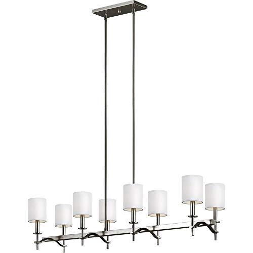 Feiss F3312/8SN Hewitt Linear Chandeliers Lighting, 8-Light, 480 Watts, Satin Nickel (12