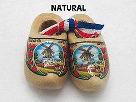 Essence of Europe Gifts E.H.G Holland Wooden Shoes Natural Tulip (1.5