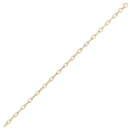 Diamantly - Bracelet Mailles Ovales - or 375/1000 (9 Carats) - Femme - Fille