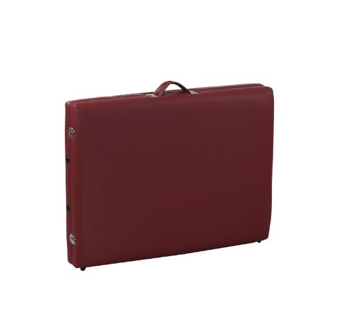 Heaven Massage Two Fold Burgundy Portable Massage Table – PU Leather High Quality