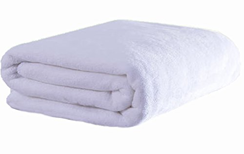 Microfiber Bath (Simplife Microfiber Bath Towels Bath Sheets Beach Spa Bathroom Towels Extra Large Absorbent Towels(36 Inch X 72 Inch, White))