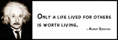 Amazoncom Wall Quote Albert Einstein Only A Life Lived For