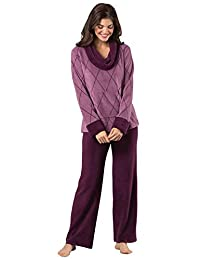 PajamaGram Super Soft Pajamas for Women - Fleece