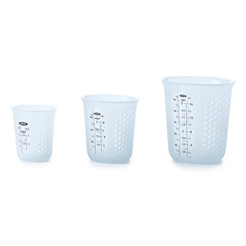 - OXO Good Grips 3 Piece Squeeze & Pour Silicone Measuring Cup Set
