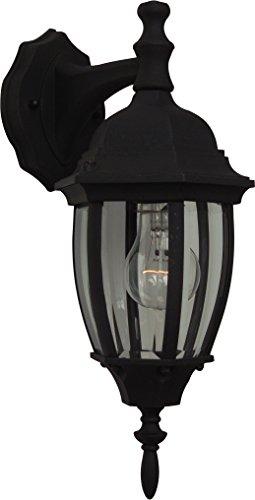 Craftmade Z264-TB Bent Glass Outdoor Wall Mount Sconce Lighting, 1-Light, 100 Watts, Textured Matte Black (7