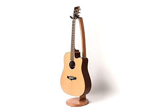 EireannMusic Original Wooden Acoustic Electric Guitar Stand – Handmade from Cherry Wood