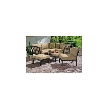 Amazoncom mainstays sandhill 7 piece outdoor sofa for Sandhill outdoor sectional sofa set