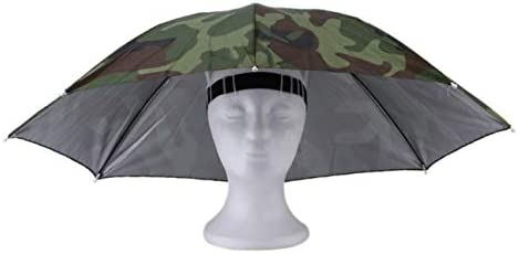 Deportes al Aire Libre portátil 69 cm Sombrero de Paraguas Sombrero  Plegable Mujeres Hombres Paraguas Pesca Senderismo Golf Playa Sombrero  Manos Libres ... 4d6e1d1c242