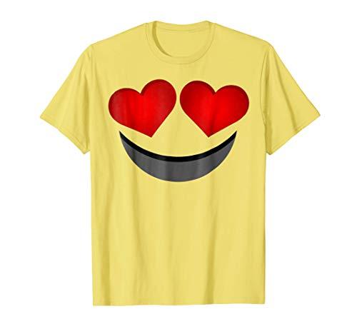 (Emoji Halloween Costume Shirt Heart Eye Love Face)