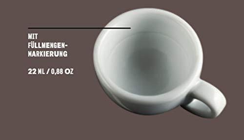 Moka Consorten Extra dickwandige italienische Espressotasse /»Palermo/« 6 Tassen /& Untertassen Made in Italy 50 ml F/üllmenge max Tassenwand: 9 mm handgemacht mit F/üllmengen-Markierung
