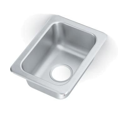 Vollrath 173-1 Single Compartment Drop-In Sink 10''W x 14'' Front-to-Back x 6-1/2'' Deep Compartment by Vollrath