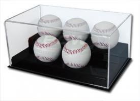 BCW 1-AD12-5 Acrylic 5 Baseball Display (Case Baseball Four Display)