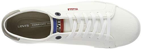Woods Blanc regular White Sportswear Baskets Homme 51 Levi's qRxHCdq