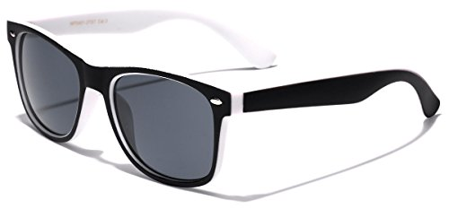 Frame Two Tone Wayfarer Sunglasses - Black & (Black And White Glasses)