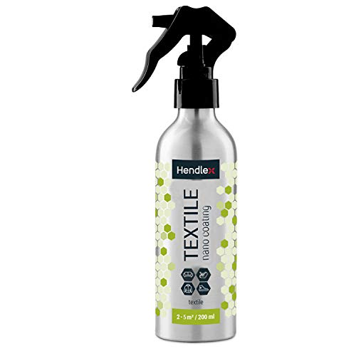 (Hendlex Textile Waterproof Protection Impermeable Spray For Upholstery Fabric | Dirt Water Repellent for Child Seat Protector, Hydrophobic Spray For Sofa, Car Seats 6.76 ounces )